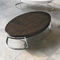 Contemporary coffee table / wooden / chromed metal / oval PERSEUS Target Point New
