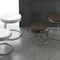 Contemporary side table / wooden / metal / round GEMINI Target Point New