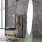 free-standing mirror / contemporary / oval / curved glass