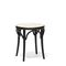 traditional stool / beech / plywood / leather