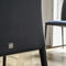 contemporary chair / upholstered / metal / leather
