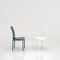 contemporary chair / upholstered / leather / chromed metal