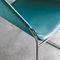 contemporary chair / with armrests / upholstered / sled base