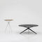 contemporary pedestal table / laminate / round