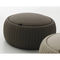 contemporary pouf / leather / with storage compartment