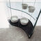 contemporary display case / wooden / glass / illuminated