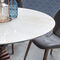 contemporary dining table / glass / solid wood / steel