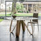 contemporary dining table / wooden / marble / tempered glass
