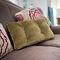 sofa cushion / square / rectangular / fabric