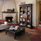 high bookcase / traditional / lacquered wood