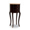 traditional side table / wooden / round / with drawer