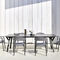 contemporary chair / aluminum / contract / outdoor