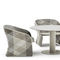 contemporary armchair / aluminum / synthetic fiber / contract