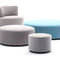 contemporary coffee table / HPL / fabric / round