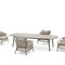 contemporary table / aluminum / HPL / rectangular