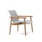contemporary armchair / teak / fabric / plywood
