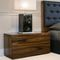 contemporary bedside table / wooden / metal / rectangular