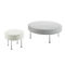 contemporary ottoman / fabric / leather / upholstered
