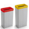 public trash can / powder-coated steel / plastic / contemporary
