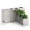 public trash can / stainless steel / contemporary / commercial