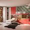 blue children's bedroom furniture set / red / lacquered wood / unisex