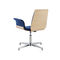 steel beam chair / fabric / wooden / 3-seater