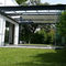 self-supporting pergola / wall-mounted / thermo-lacquered aluminum / glass
