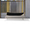 contemporary sofa / wooden / steel / fabric