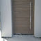 entry door / pivoting with offset axis / solid wood / oak