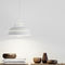 pendant lamp / contemporary / steel / glass