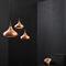 pendant lamp / contemporary / copper / wooden