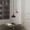 pendant lamp / contemporary / aluminum / wooden