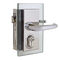 glass door handle / metal / contemporary / with lock