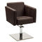 leather beauty salon chair / stainless steel / central base / with hydraulic pump