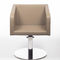synthetic leather beauty salon chair / with hydraulic pump / adjustable-height / black