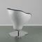 steel beauty salon chair / fiberglass / central base / swivel