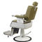 synthetic leather barber chair / chromed metal / central base / with headrest