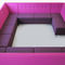 Modular upholstered bench / contemporary / leather / black ENCOUNTER by Barry Davison DAVISON HIGHLEY