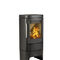 wood heating stove / contemporary / metal / wall-mounted