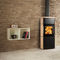 wood heating stove / contemporary / metal / soapstone