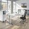 Workstation desk / wood veneer / metal / HPL CEGANO T4000 : 52490-1.1|S10118 C+P Möbelsysteme GmbH & Co. KG