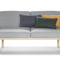 contemporary sofa / leather / wooden / fabric