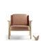 contemporary armchair / fabric / leather / oak
