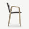 contemporary chair / with removable cover / stackable / with armrests