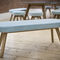 contemporary bench / oak / fabric / upholstered