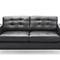 minimalist design sofa / leather / 2-person / 3-seater