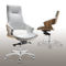 Contemporary office chair / with armrests / upholstered / on casters STANLEY by Hilary Birkbeck Connection