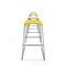 minimalist design bar stool / chrome steel / polypropylene / commercial