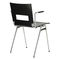 contemporary visitor chair / with armrests / upholstered / stacking