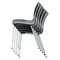 Contemporary visitor chair / with armrests / upholstered / stackable PURA by Prof. Matthias Rexforth  BRUNE Sitzmöbel GmbH